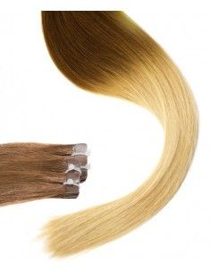 Extensions adhésives tie and dye chatain