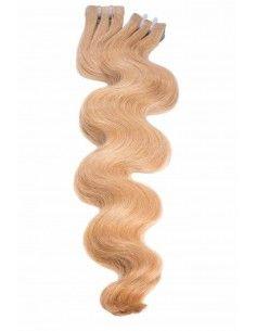 Extensions adhésives ondulées blond miel