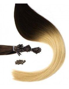Mèches Naturelles tie and dye brune extensions 50cm