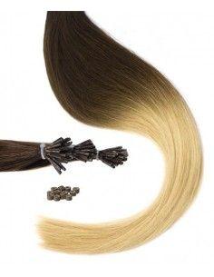 extensions à froid ombré hair brun marron