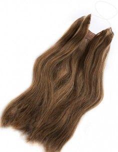 Halo Hair Châtain Clair Chocolat cheveux mechés