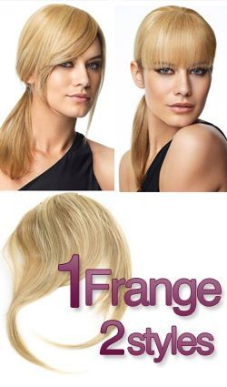 style de coiffure avec l'extension de frange à clip