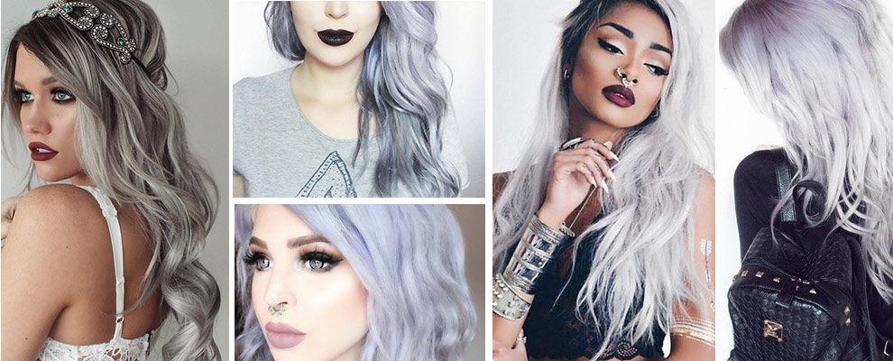 extension adhésives de cheveux gris