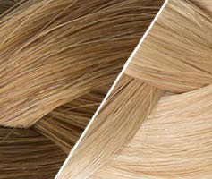 10 Ombré Hair Tape Haarverlängerung Haselnussbraun Ombré Hair