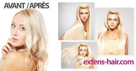 Extensions de cheveux à Romont avant après