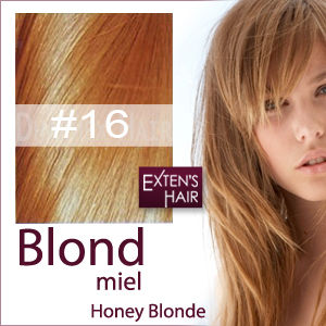 extensions de cheveux blonds caramels