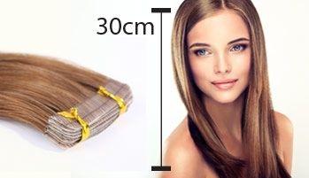 Mittellange Haarverlängerungen