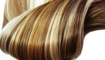 Gesträhnte Haarverlängerungen