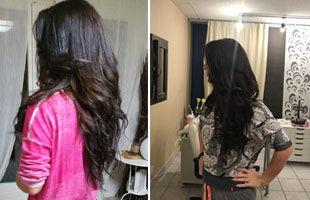 avant après extensions cheveux