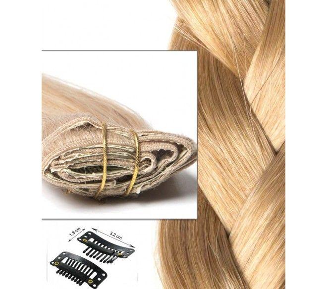 Extension à Clip en cheveux russes Blond Caramel